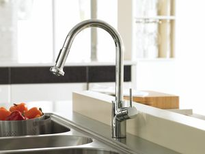 hansgrohe talis s 2 2 gpm single lever handle deckmount kitchen sink rh pinterest com