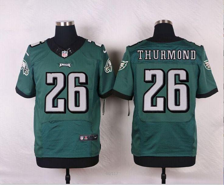 Men's NFL Philadelphia Eagles #26 Walter Thurmond Green Elite Jersey