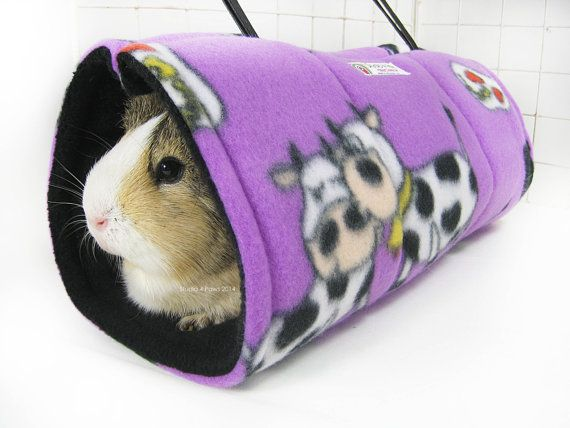 Plush Tunnel Tents provide maximum enjoyment and fun for your guinea pig. These tunnels are the perfect piggy escape or hideout, or simply hours of