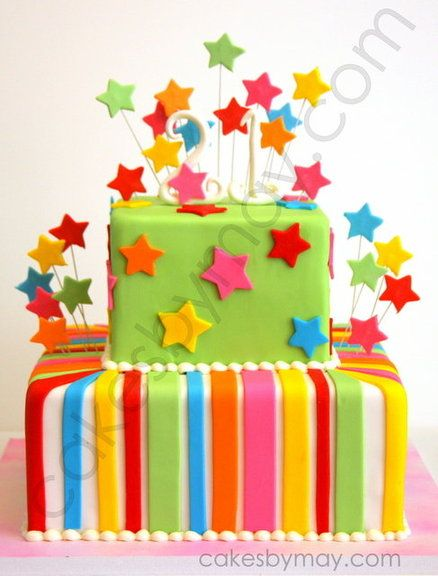 Colorful Birthday Cake/
