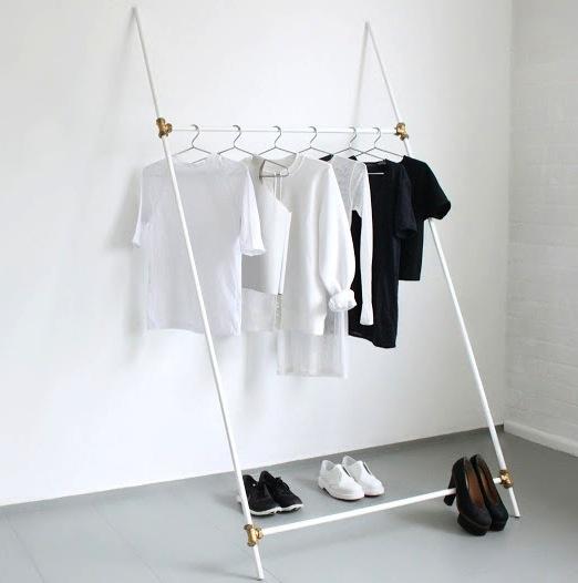 plumbing tube clothing rack