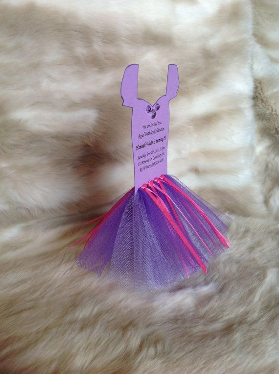 Tangled Rapunzel Tutu Invitations Leotard Template Punch