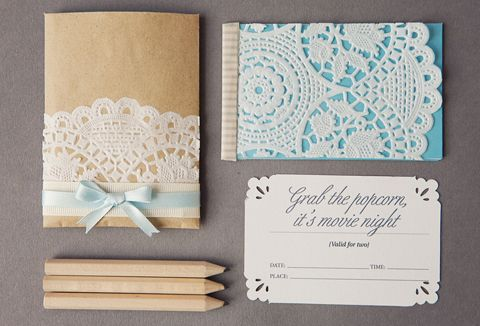 cute little envelopes and cards.... it says its for a date night, but would be cute RSVP cards too!