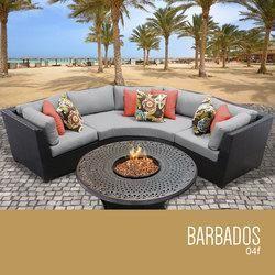 barbados 4 piece outdoor wicker patio furniture set 04f pool and rh pinterest com