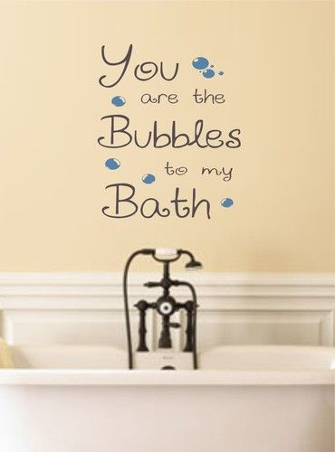 Best BATHROOM WALL ART IDEAS Images On Pinterest - Custom vinyl wall decals sayings for bathroom