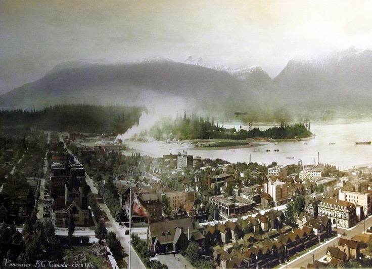 Vancouver 1915: An unfamiliar downtown Vancouver Photo by W.J Moore, colourization 2011.