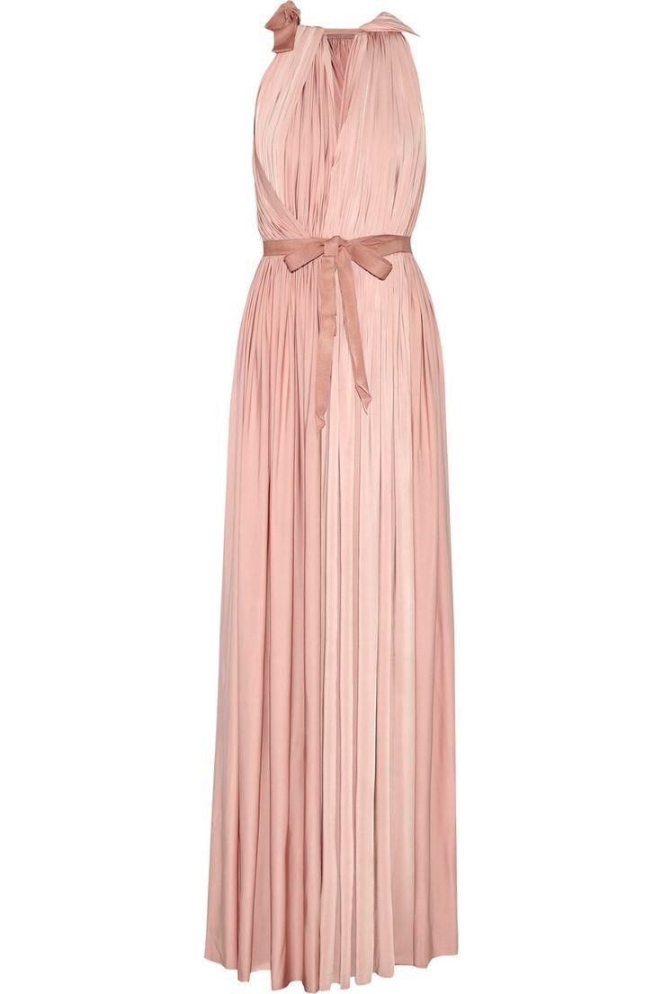 Lanvin Draped satin-jersey gown NET-A-PORTER.COM