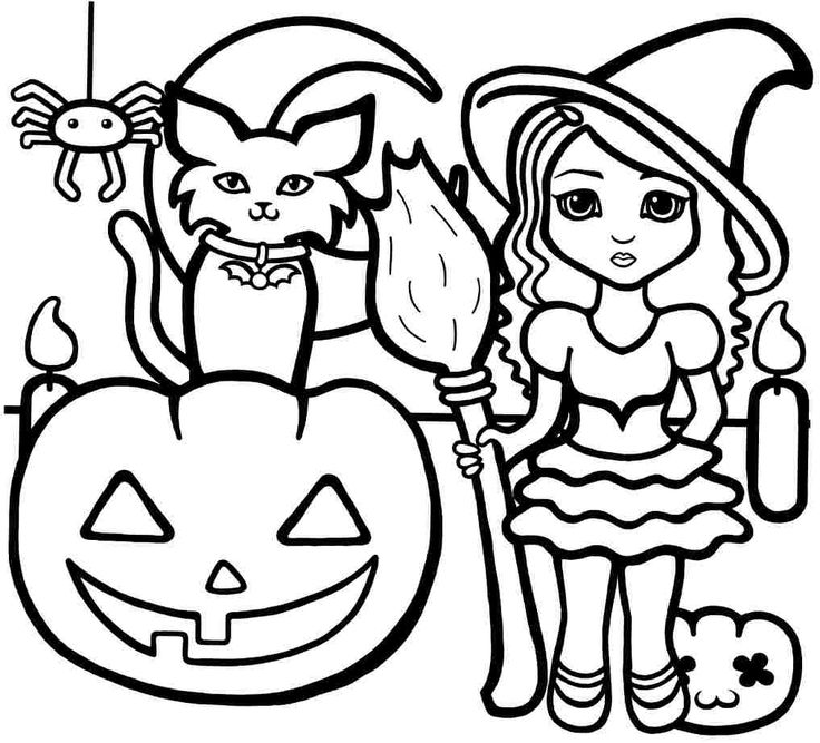 Coloring Pages For Halloween Witches : 67 best coloring & activity pages: halloween images on pinterest
