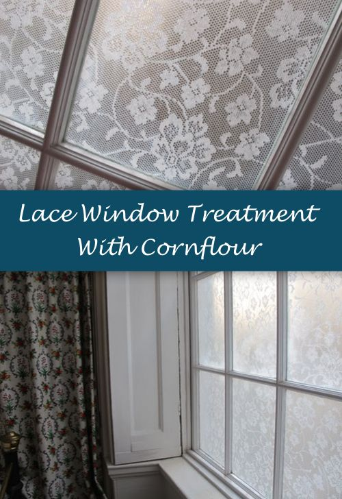 Lace Window Treatment With Cornflour...http://homestead-and-survival.com/lace-window-treatment-with-cornflour/
