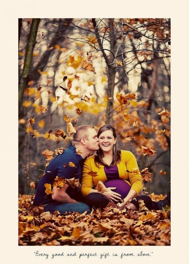 Oh Baby! 18 Swoonworthy Fall Maternity Photos via Brit + Co.