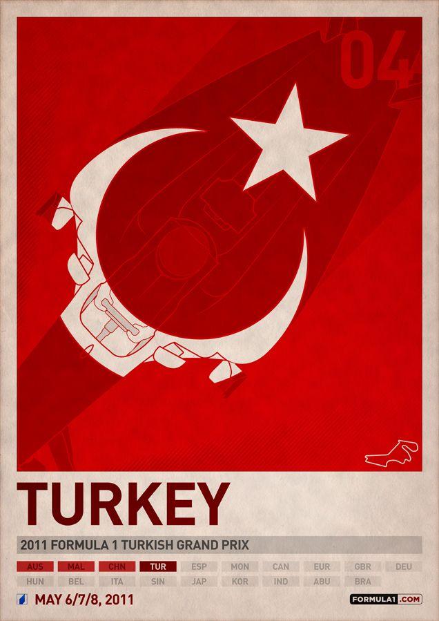 2011 F1 Turkey Poster