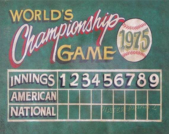 Vintage Baseball Scoreboard Poster Print 16 By 20 Inch
