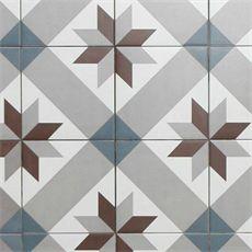 Marockanskt kakel Konradssons Kerion optique mer décor 20x20 cm Fraktfritt! | Stonefactory.se