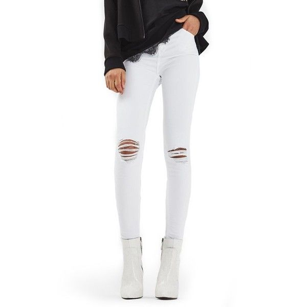 High waisted jeans white topshop