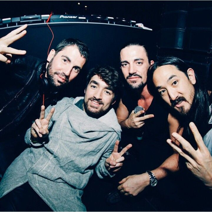 Dimitri Vegas & Like Mike, Oliver Heldens and Steve Aoki.
