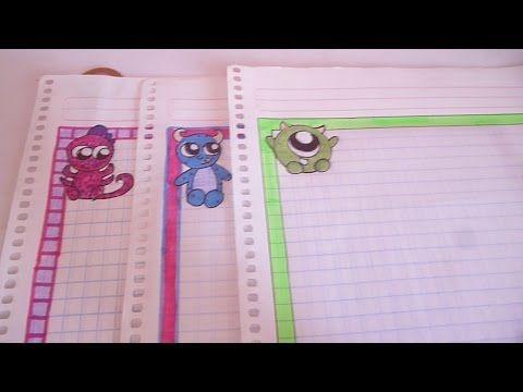 Margenes para Cuadernos/Cartas | Ideas Para Decorar - YouTube