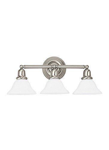 best bathroom light fixtures sea gull 44062en962 sussex vanity rh pinterest com