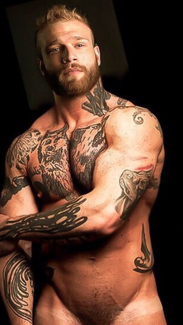 Muscle tatoo hairy hunks hot barebacking