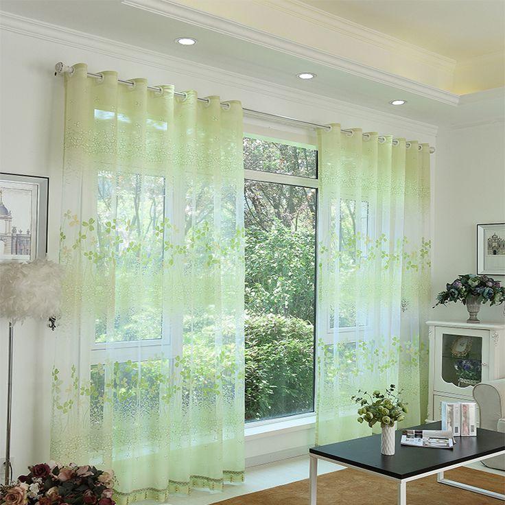 los niños de flor verde rústico cortina cortinas de la sala de estar  ~ Sala De Estar Ninos
