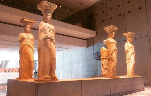 Kariatides at #AcropolisMuseum. #Athens #Greece #Culture Photo crefits: @xryshida