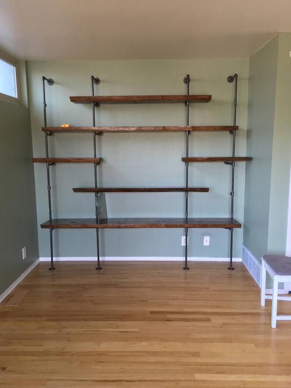 diy floating shelves live edge wood slab industrial pipe shelves rh pinterest com