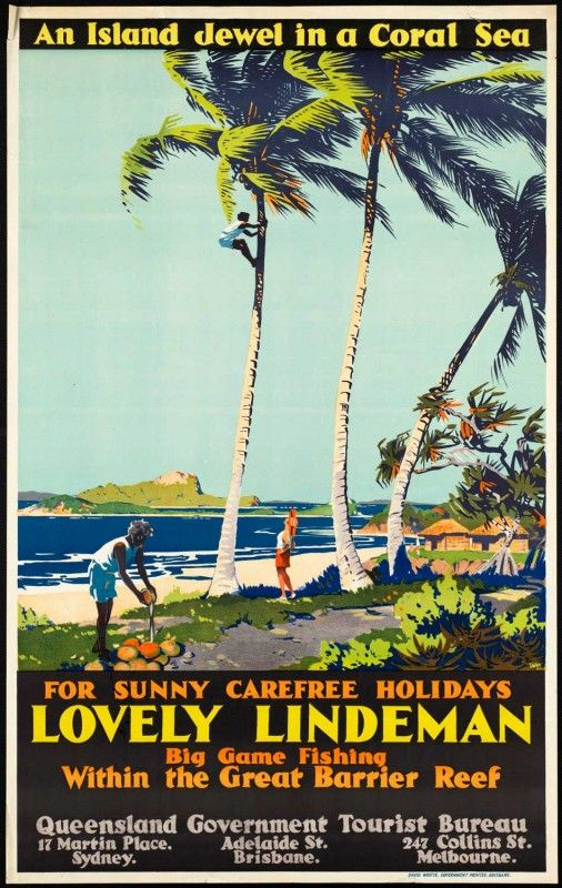 Vintage travel poster. Lindeman #essenzadiriviera