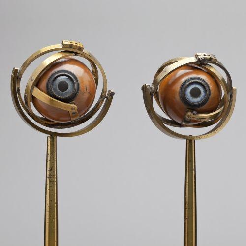 Modelos oculares (II) del oftalmólogo holandés Franciscus Donders (1818-1889). Posiblemente de 1870.