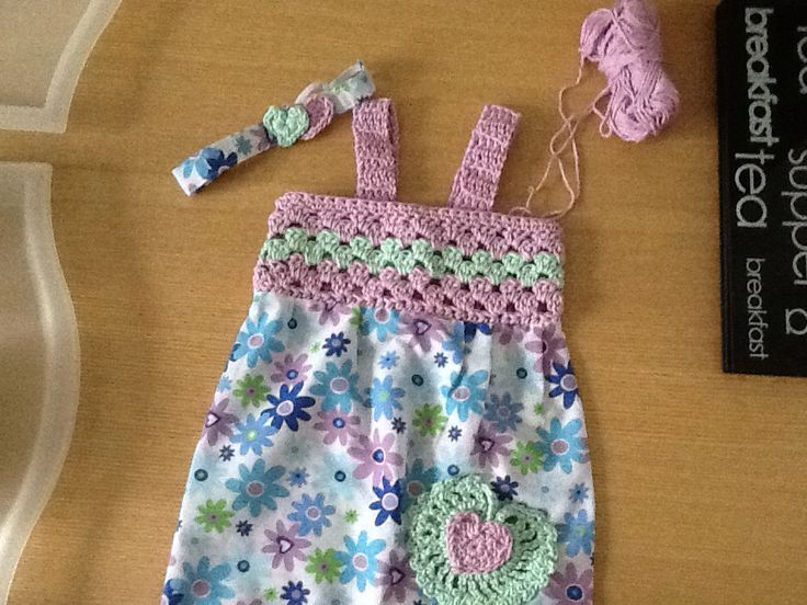 Dress and headband for Tia Louise, my great granddaughter