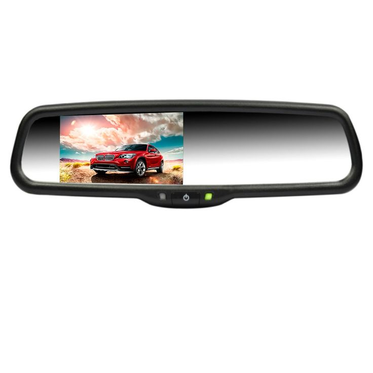 """Airysee AS-43LA Orignal Auto Mirror OEM Replacement 2CH Video Inputs 4.3"""" Auto LCD Dimming Brightness Adjust Car Rear View Mirror Monitor. 4.3 inch TFT-LCD screen mirror monitor display for dual video input (AV1, AV2): AV1 is for DVD/VCD/GPS/TV/Front Camera etc. AV2 is for vehicle backup camera video display. Auto parking video system: When rear gear is selected, the reverse camera image will be displayed automatically on the monitor. When the power is off, the mirror looks like a factory..."""