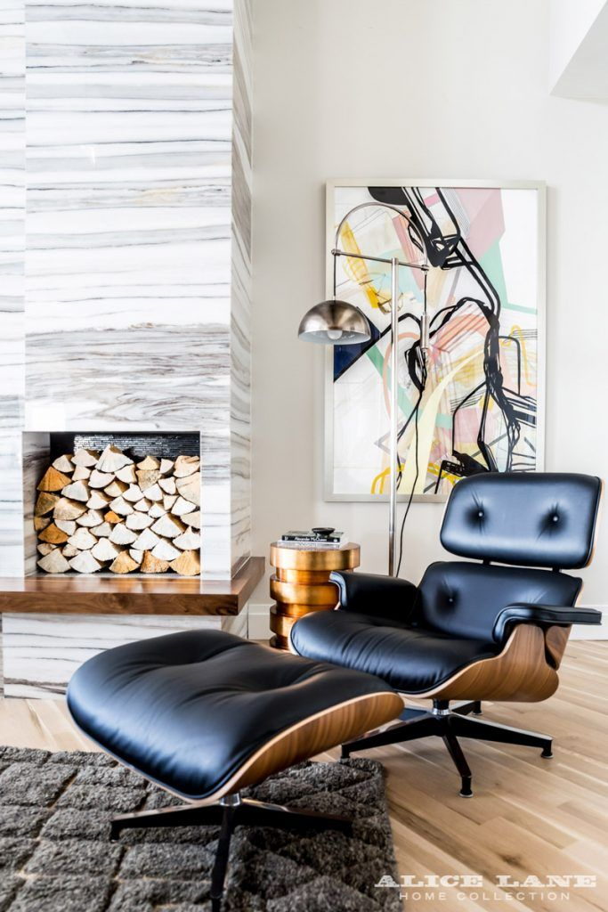Mid century modern home mixed with some classic twists loving this eames chair