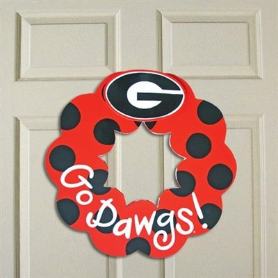 DIY: Georgia Bulldogs Wreath #UltimateTailgate #Fanatics
