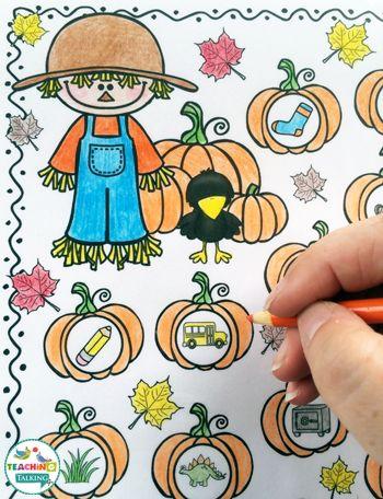 Fall Themed Print & Go Articulation Games & Activities by teachingtalking.com