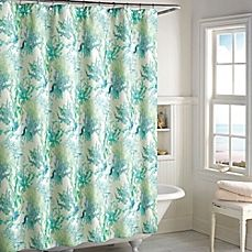 image of Ursula Shower Curtain in Teal