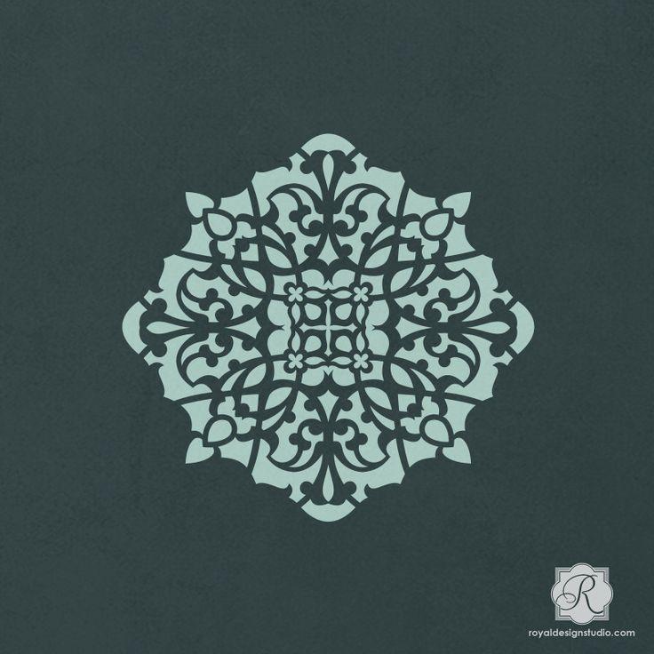 Crafting with Stencils and Moroccan Designs - Asma Ornament Craft Stencils - Royal Design Studio