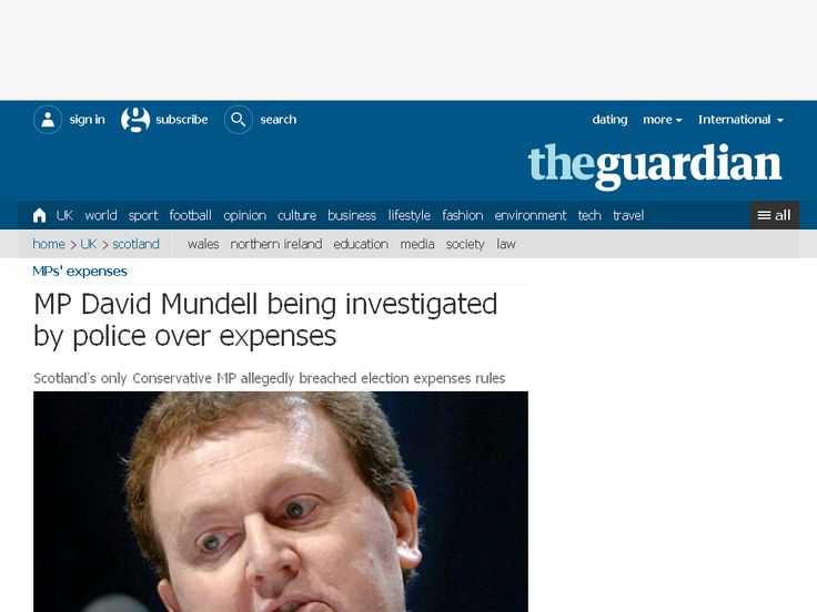 MP David Mundell being investigated by police over expenses | Politic…