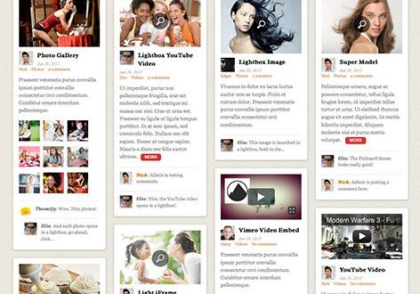 Pinboard A Responsive Pinterest Inspired WordPress Theme By Themify