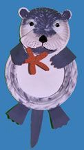 The North American Sea Otter is a threatened species! In honor of Endangered Species Day, help your kids make this otter out of paper plates!