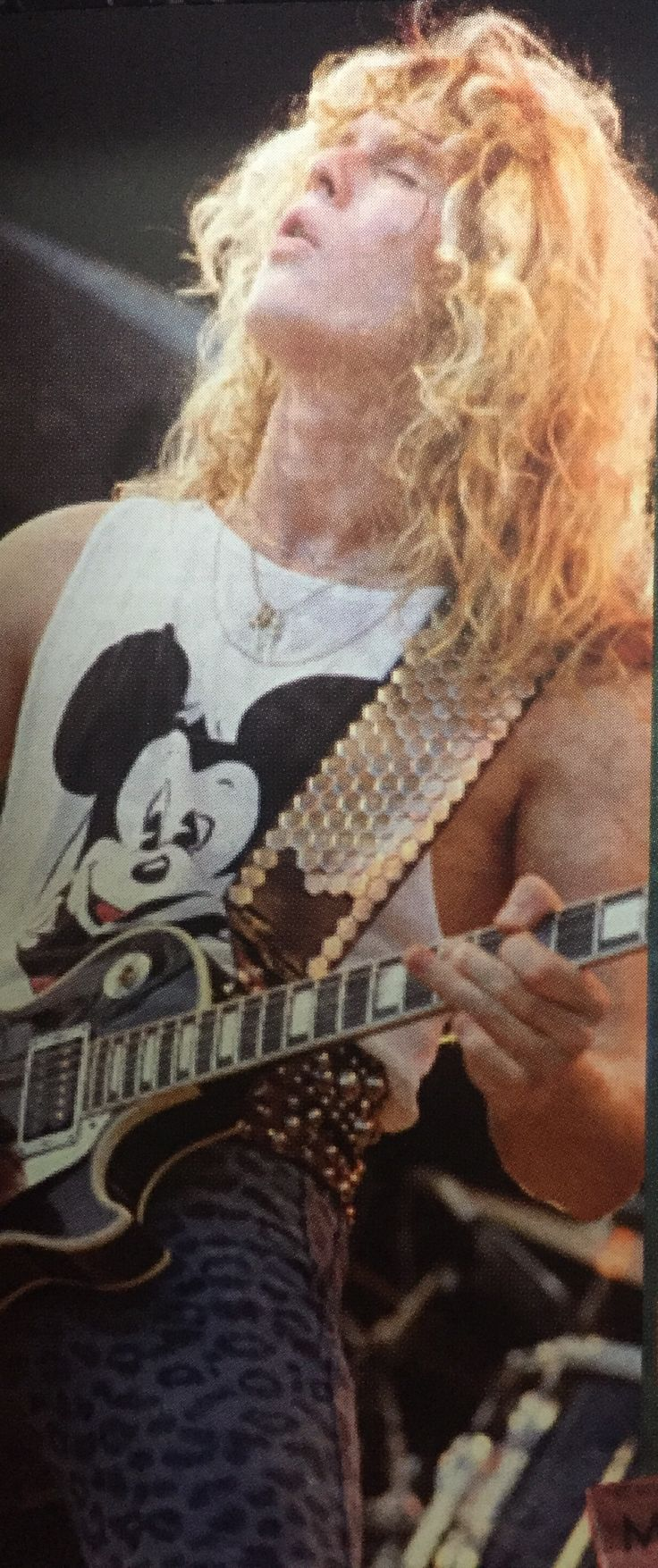John Sykes of WHITESNAKE  super rock in Japan 1984