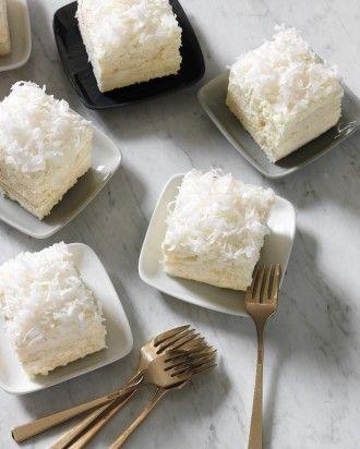 Dreamy coconut cake squares #yum Click for the recipe