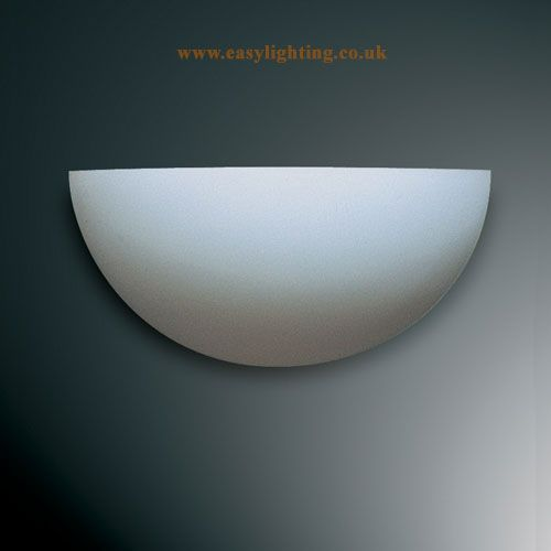 Paintable Plaster Half Moon Wall Uplighter