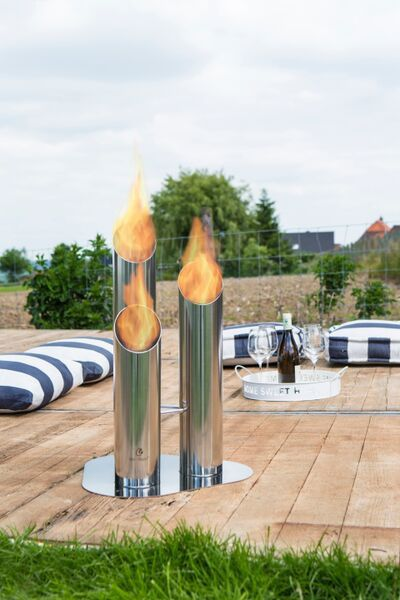 Bio Blaze Pipes   Outdoor Ventless Ethanol Fireplace Images