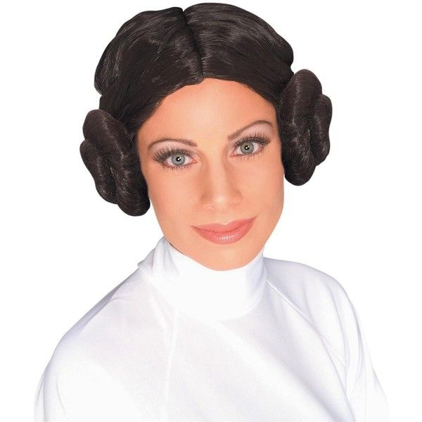Star Wars Princess Leia Adult Wig (20 CAD) ❤ liked on Polyvore featuring costumes, halloween costumes, star wars han solo costume, star wars luke skywalker costume, adult princess leia costume, adult luke skywalker costume and princess halloween costumes