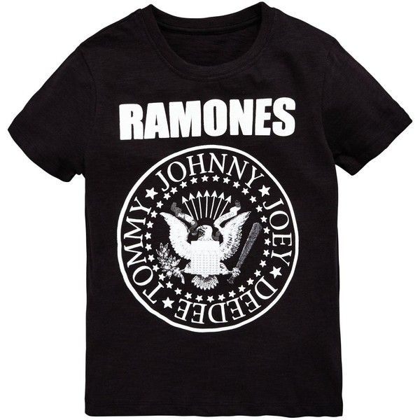 Ramones T- Shirt ($10) ❤ liked on Polyvore featuring tops, t-shirts, shirts, tee-shirt, t shirt and shirt top