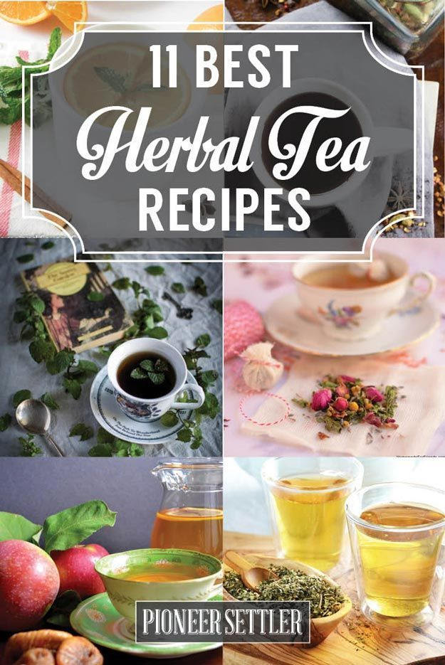 Best Herbal Tea Recipes |  Homemade DIY Drinks | http://pioneersettler.com/herbal-tea-recipes/