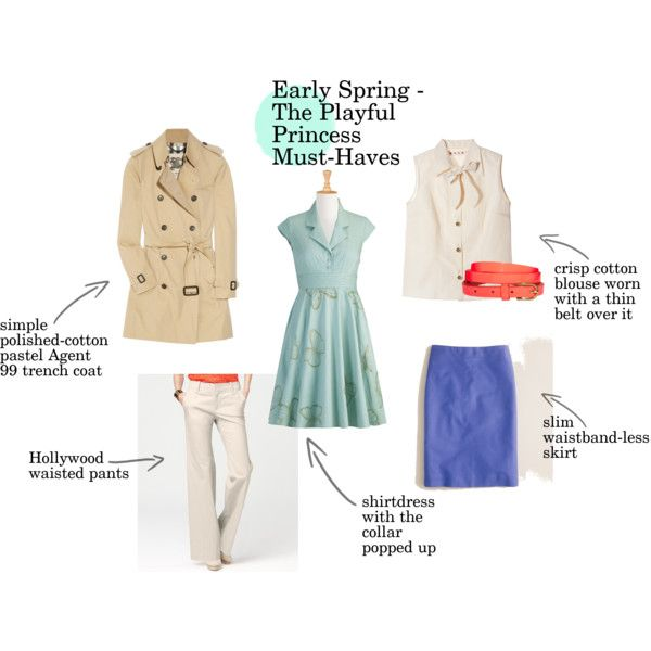 """""""Early Spring Must-Haves - The Playful Princess"""" by goldkehlchen on Polyvore"""