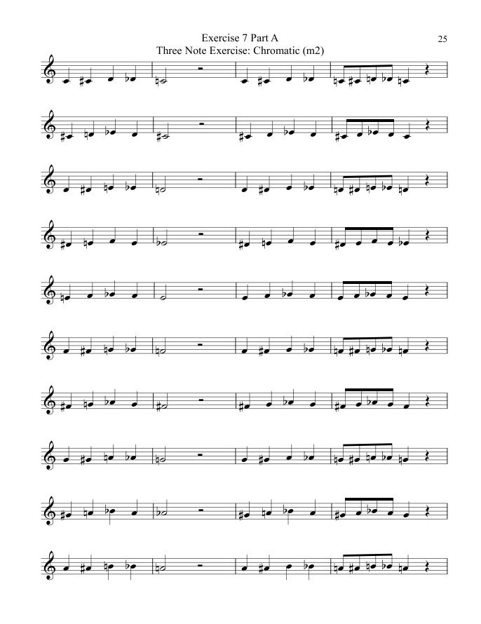 """""""Systematic Chromatic Exercises"""" for Band & Orchestral Instruments. Exercises for Solo & Ensemble. Learn Intervals & Intonation Faster! http://mschottenbauer.musicaneo.com/sheetmusic/?cat=4469"""