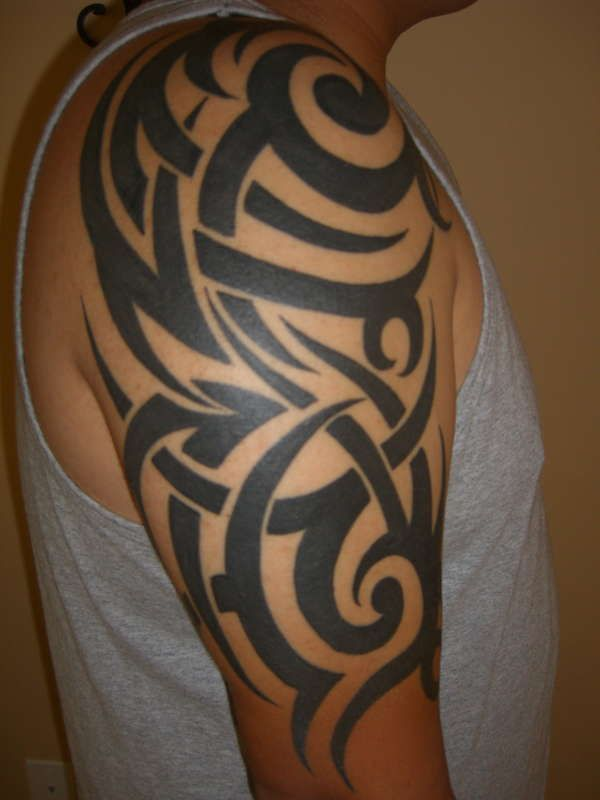 27 best images about tattoo ideas on pinterest haunted for Tribal half sleeve tattoos