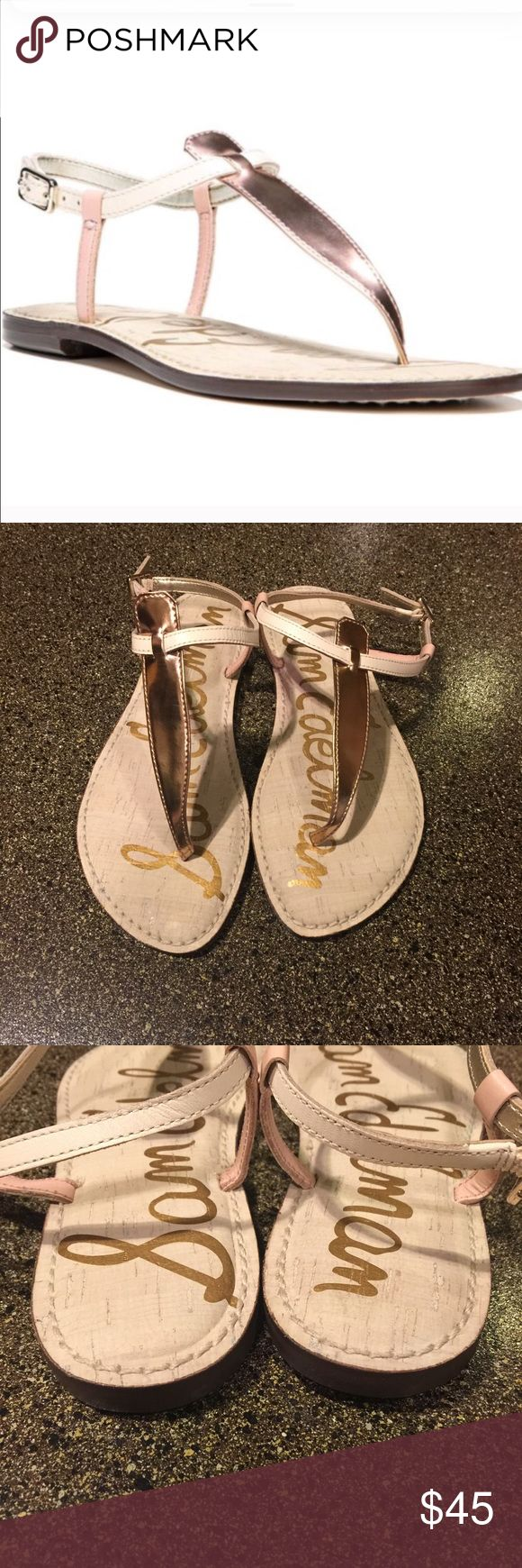 NWOT Sam Edelman Gigi Sandals Rose Gold & Blush 7 NWOT Sam Edelman Gigi Sandals Rose Gold, Blush & Cream. Absolutely beautiful and comfortable! Sam Edelman Shoes Sandals