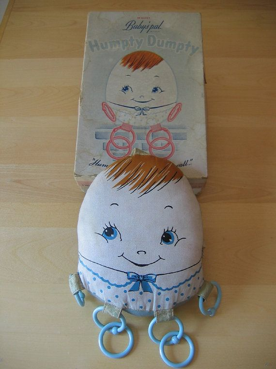 Vintage 1940s Dr. Allen's Baby's Pal Humpty Dumpty Toy w/ Original Box - Made by Krueger - Stock Number 5-911 on Etsy, $32.99