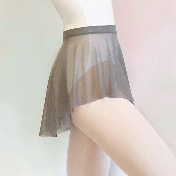 Mesh Dance Skirt Gray Stretch Mesh  SAB skirt  by RoyallDancewear